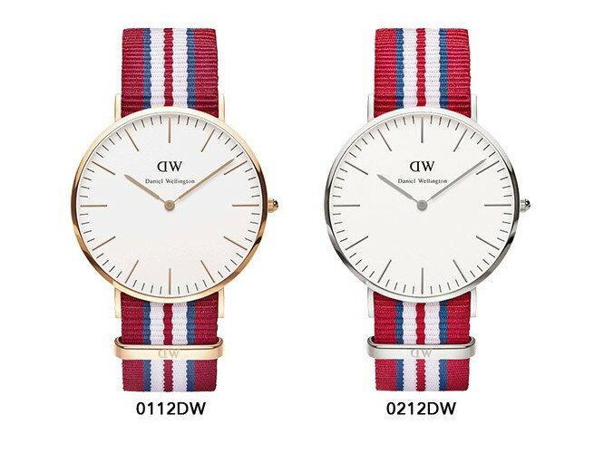 瑞典正品代購 Daniel Wellington 0212DW 銀 尼龍 帆布錶帶 男錶 手錶腕錶 40MM 2