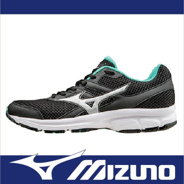 萬特戶外運動-MIZUNO美津濃 K1GA160404 SPARK 柔軟大底 一般型女慢跑鞋 健走適用 黑/綠
