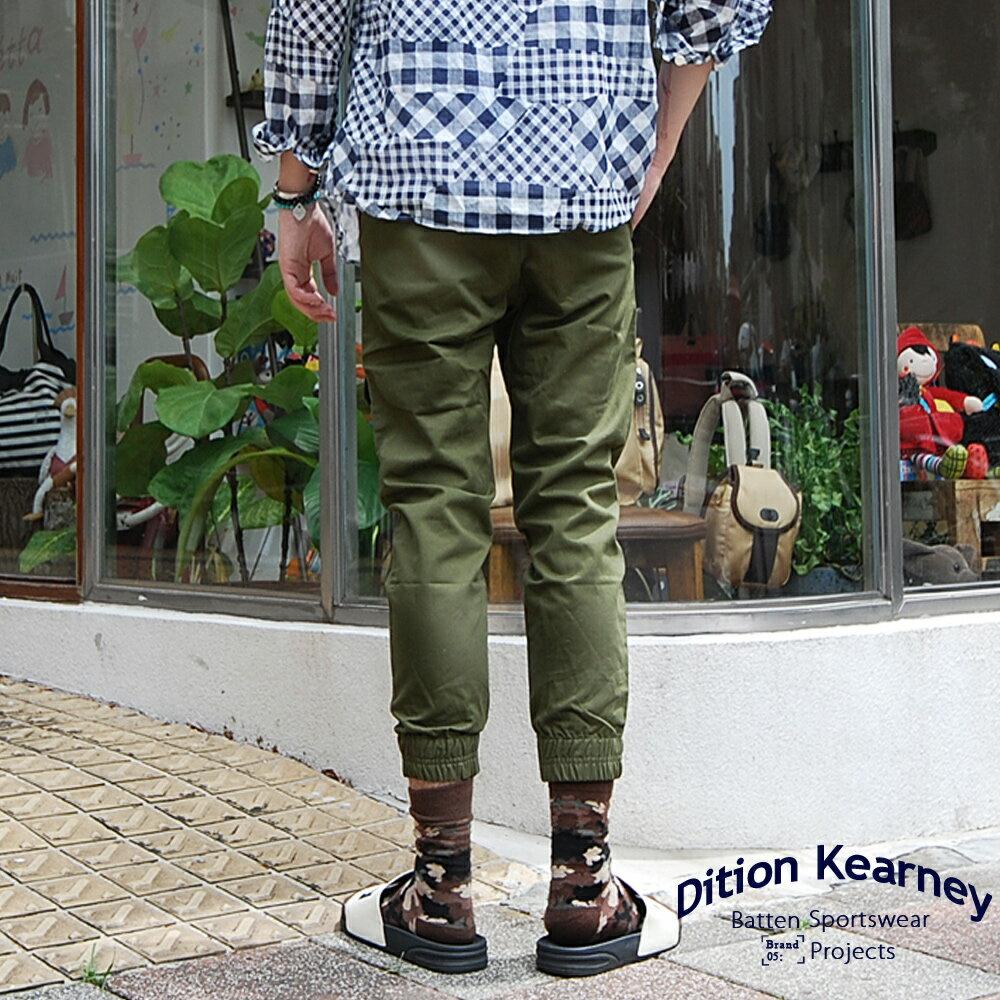 DITION   軍風釘釦JOGGER側口袋七分縮口褲 合身版 1