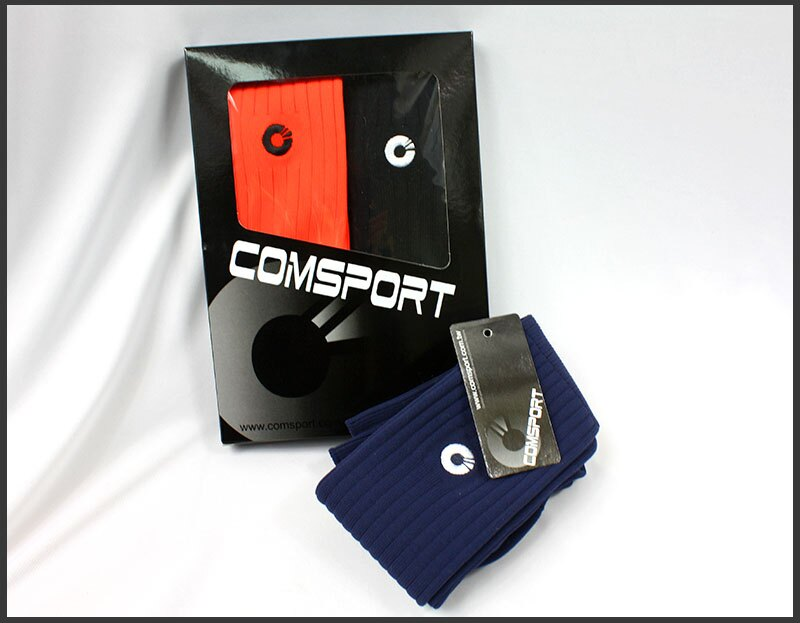 Comsport *彈性足球組合襪*-三色(橘丈青藍) 1
