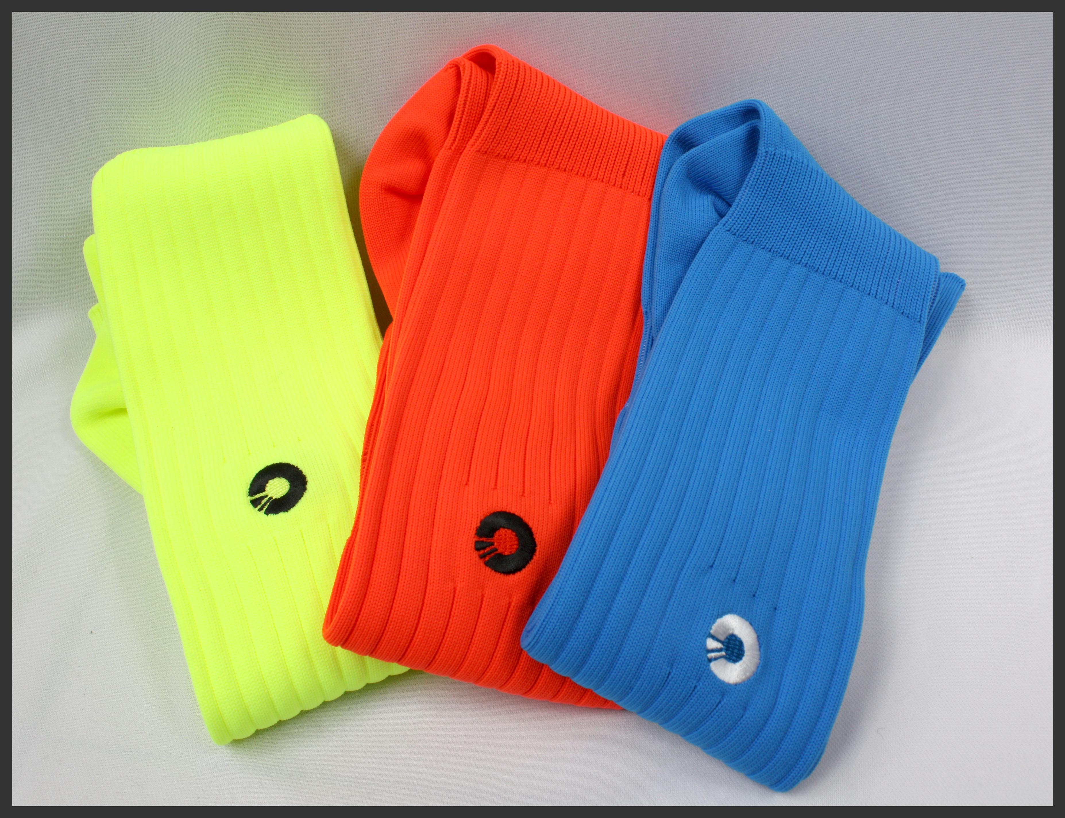 Comsport *彈性足球組合襪*-三色(黃橘藍) 0