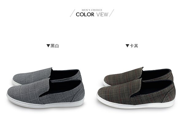 ☆BOY-2☆ 【NKP-GP64】休閒紳士格紋懶人鞋 1