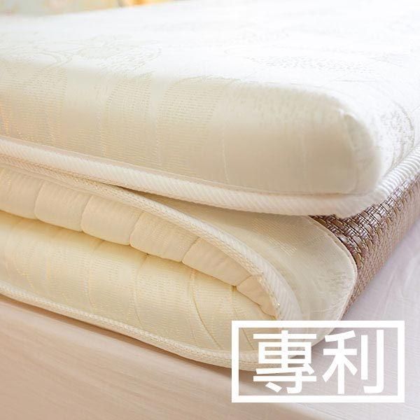 單人加大床墊 3.5尺X6.2尺 日系記憶棉獨立筒彈簧冬夏兩用收納床墊【外島無法配送】 0