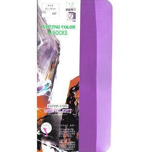 [漫朵拉情趣用品]【郁庭靴下】彩色系列健康全彈性100%中筒襪-紫色 DM-91545