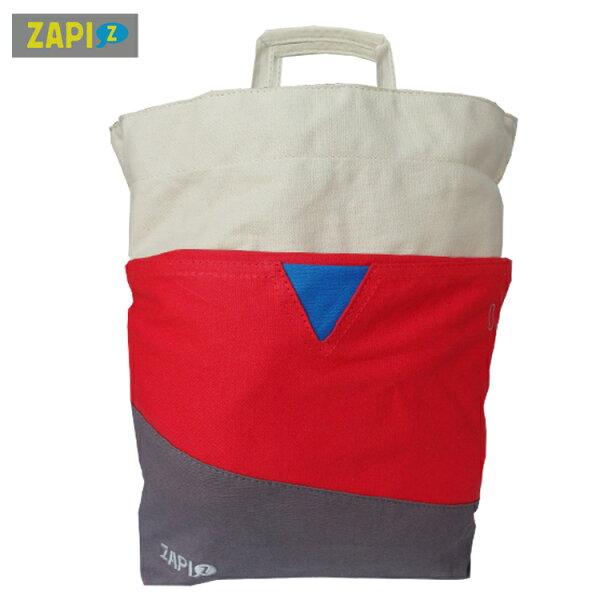 ZAPI-拼接色DODO側背包-米色