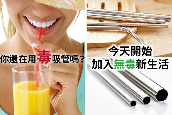 【BardShop環保小物】不鏽鋼吸管食品級304不銹鋼吸管/環保/彎管/直管/攪拌棒/重複使用 1