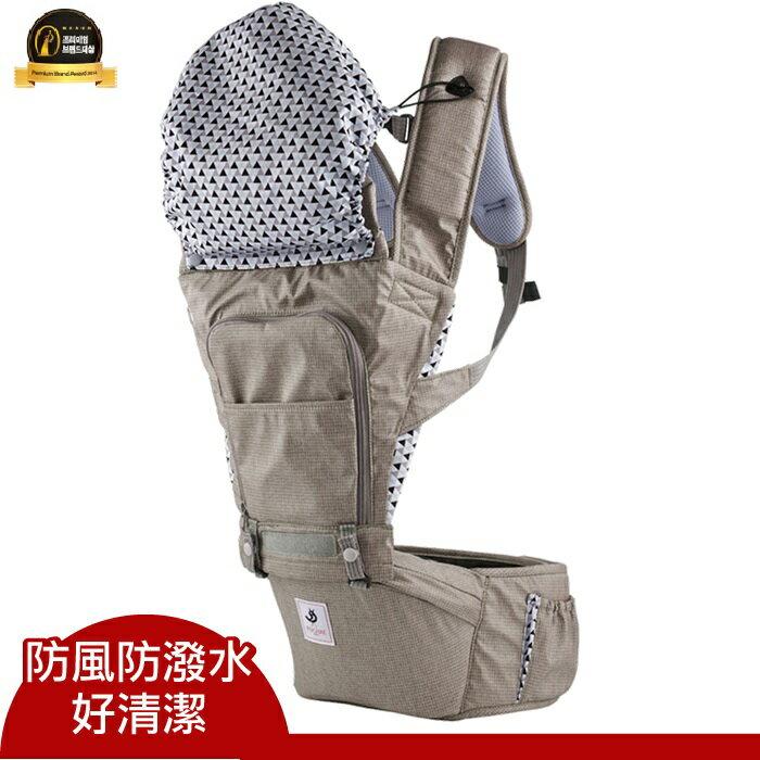 【本月贈有機護唇膏x1 市值$199】【Pognae】 No.5超輕量機能坐墊型背巾-巴黎摩卡 0
