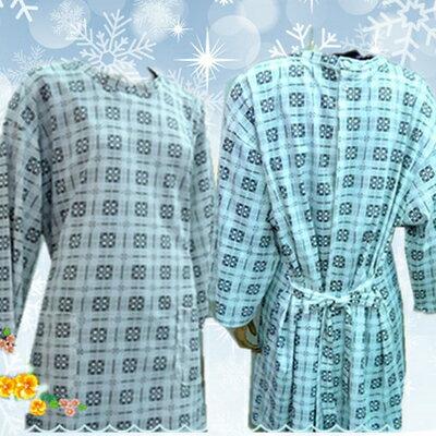氣切癱瘓易照護男女棉質病人服反穿式睡袍居家服睡衣-美美網購生活館