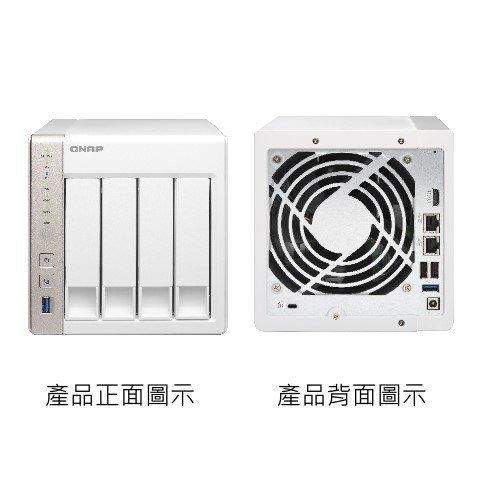 *╯新風尚潮流╭* QNAP網路儲存設備 NAS網路系統伺服器 X51 可裝4顆硬碟 內建1G記憶體 TS-451