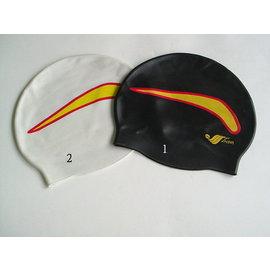 東鳳 游泳帽 D6015-B彩繪 矽膠帽 月眉 TRITON