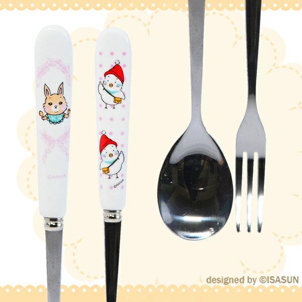 ★堯峰陶瓷★餐具系列 LINE貼圖周邊 咪將 小桃兔 陶瓷不鏽鋼 叉子 湯匙 獨家授權