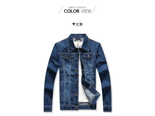 ☆BOY-2☆【NQ98040】牛仔外套 美式素面單寧夾克 2