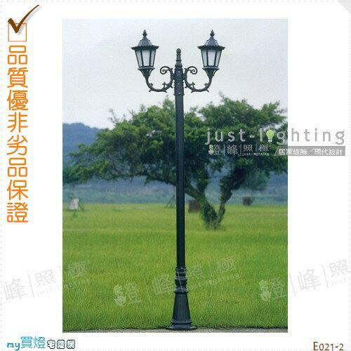 【景觀立燈】E27 雙燈。鋁合金。防雨防潮耐腐蝕。高315cm※【燈峰照極my買燈】#E021-2