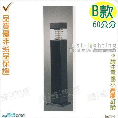 【景觀步道燈】E27 單燈。防雨防潮耐腐蝕。高60cm※【燈峰照極my買燈】#E079-3