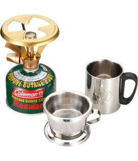 【露營趣】中和 美國 Coleman 極致品味 帕神爐組 摩卡爐 瓦斯爐 咖啡爐 (附不鏽鋼濾杯及隔熱杯) CM-9386