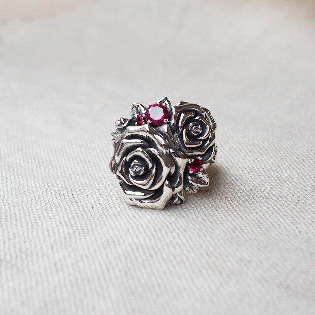 【海外訂購】【KONRON】我愛玫瑰純銀戒指(KRR0714-CZ) 3