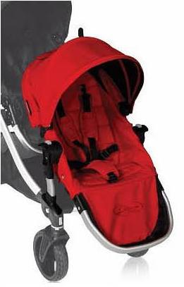美國【Baby Jogger】City Select 推車專用雙人第二座椅(紅)黑管/銀管 - 限時優惠好康折扣