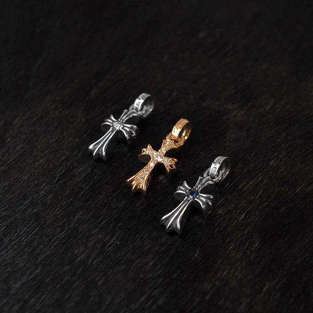【海外訂購】【Chrome Hearts】CH十字架 baby fat 純銀墜飾 - 客製化鑽石款(CHC-033-D) 1