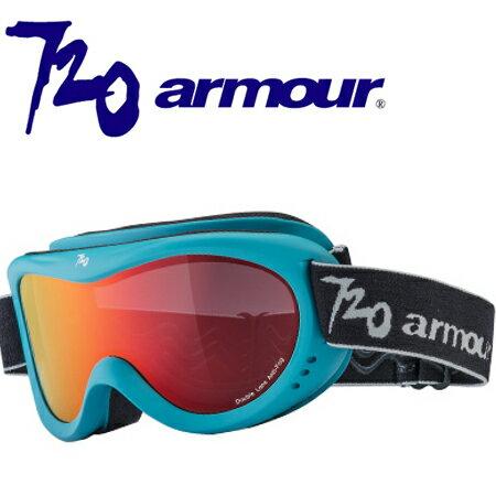 720armour 兒童款 滑雪雪鏡/風鏡/Gogo Spangay 砂藍框全面紅黑多層鍍膜雙層防爆PC片 T370-7R