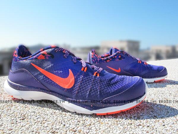 [24.5cm] Shoestw【749184-501】NIKE WMNS FLEX TRAINER5 訓練鞋 慢跑鞋 紫渲染 潑墨 女款