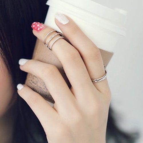 PS Mall 光面金屬細圈食指戒指 戒子指環 2件套飾~G1920~ ~  好康折扣