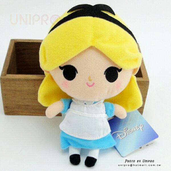 【UNIPRO】迪士尼正版 愛麗絲 公主 19公分高 絨毛娃娃 站姿玩偶 禮物 艾莉絲