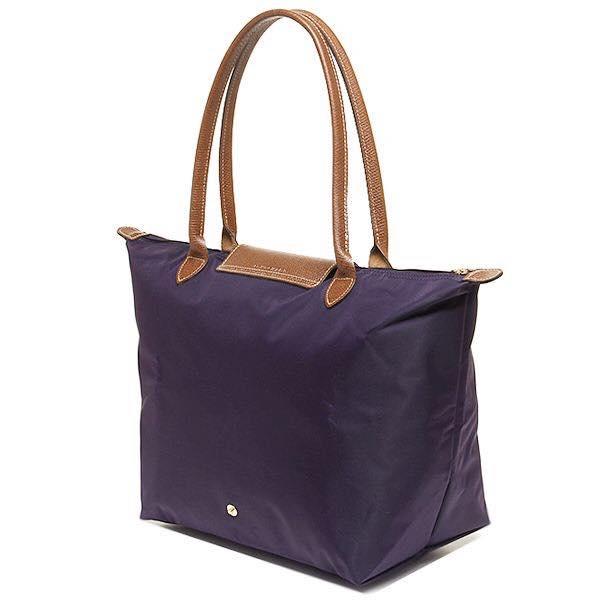 【LONGCHAMP】 LE PLIAGE 基本摺疊款/長把水餃包(深紫/大) 1
