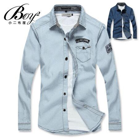 ☆BOY-2☆【NZ97001】韓版牛仔單寧長袖襯衫 0