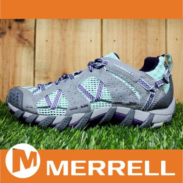 萬特戶外運動 MERRELL WATERPRO MAIPO 水陸兩用鞋 女款 低筒健行鞋 快乾透氣 淡綠/灰