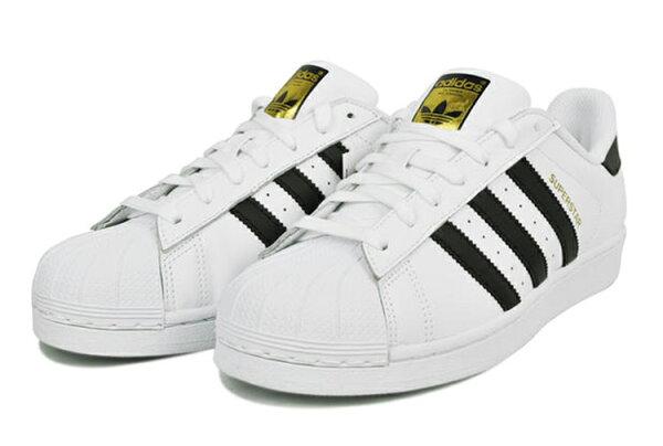 【清倉特價】41碼 Adidas C77124 愛迪達三葉草貝殼頭經典金標運動鞋 情侣鞋