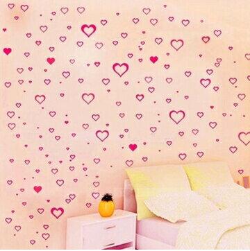 新婚床牆貼臥室浪漫溫馨床頭 貼紙宿舍牆壁裝飾愛心小花貼紙 顏色~no~2075157944