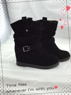 【TwinsLady】率性中筒靴 黑色