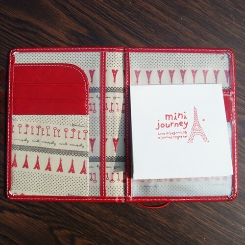 ☆BOBI☆02/25韓版短款皮面多分層護照包證件包附便條紙本【PS021】 0