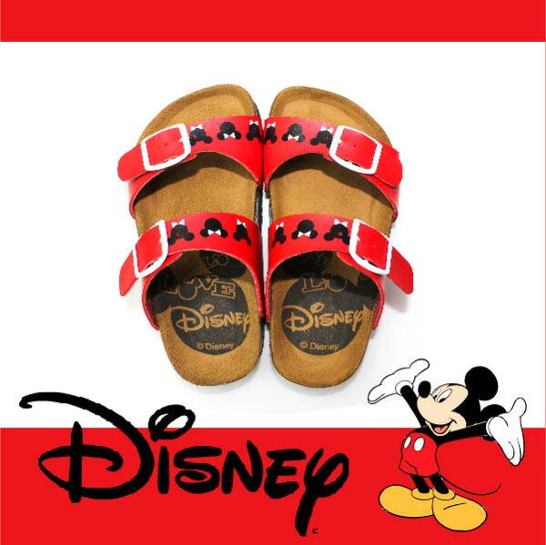 萬特戶外運動休閒 - 正版迪士尼勃肯兒童拖鞋 可調式雙帶拖鞋 米奇米妮 親子款 (紅色)