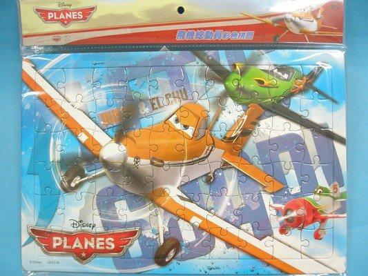 飛機總動員拼圖 幼兒小60片拼圖QFD31卡通拼圖(長方型/加厚)MIT製/一個入{促100}~正版授權~