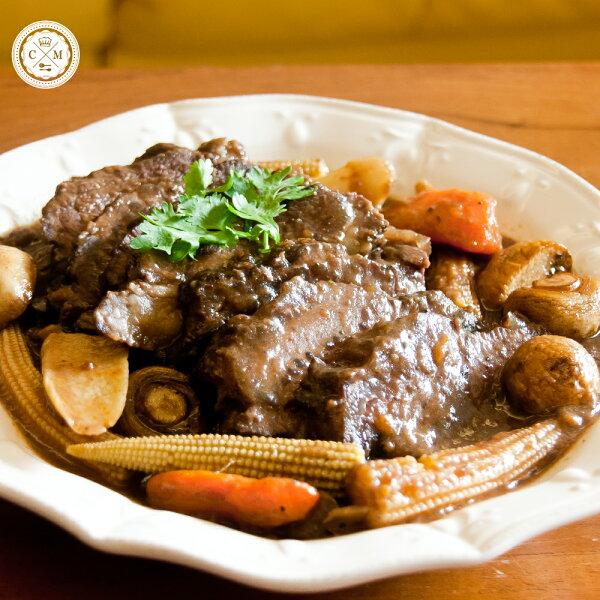 【火星小廚*法式紅酒燉牛頰】2-4人分享X 美國進口牛頰肉X紅酒X10小時牛高湯X新鮮蔬菜