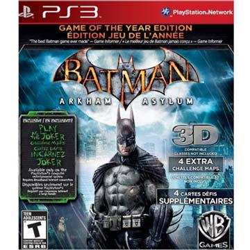 PS3 蝙蝠俠 小丑大逃亡 年度合輯英文美版(BATMAN ARKHAM ASYLUM)