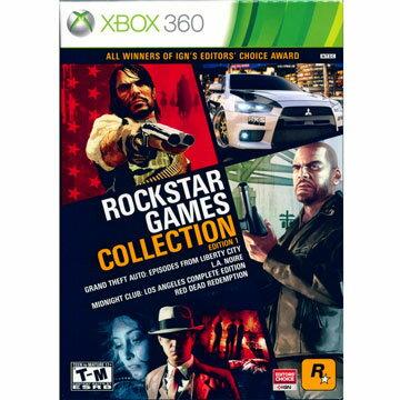 XBOX360 Rockstar經典合輯 英文美版 (碧血狂殺 灣岸4 黑色洛城 俠盜獵車手 GTA )