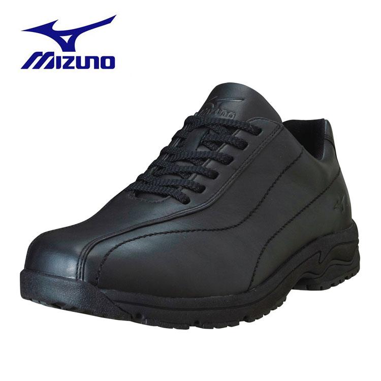 Mizuno 日本大人氣 真皮 WAVE避震寬楦健走鞋LD40 Ⅲ(黑色) 1