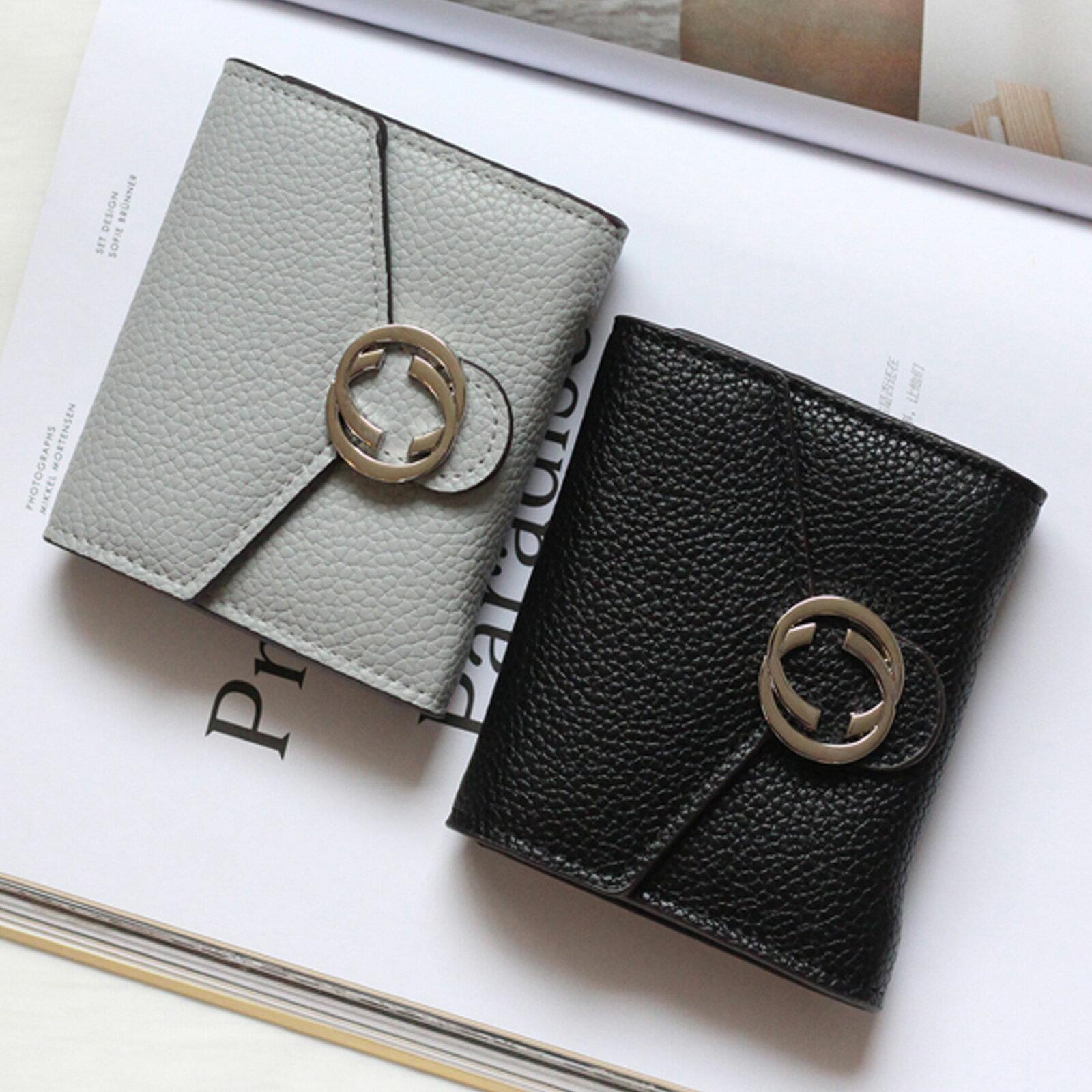 皮夾 錢包 名品質感金屬雙C短夾【O3220】☆雙兒網☆ 1