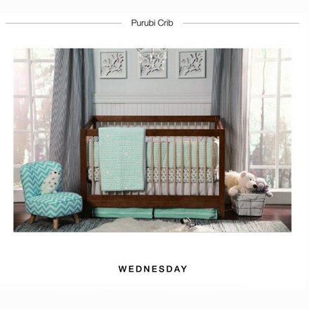 *babygo*美國 PURUBI-Wednesday四合一嬰兒床(床+雙面護脊床墊)超值組(不含寢具)