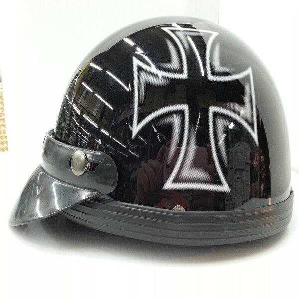 *小騎士*GT*R 十字架  半罩式安全帽/西瓜帽