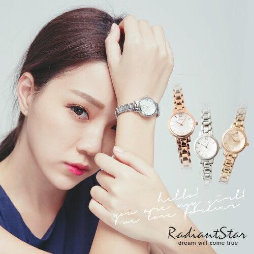 韓國KIMIO五角星鑽切面金屬鍊帶錶手鐲錶【WKI6139】璀璨之星☆