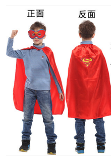 "X射線【W275933】30""無敵小超人眼罩披風組,萬聖節服裝/化妝舞會/派對道具/兒童變裝/表演/超人/DC/cosplay/英雄"