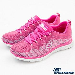 US5.5 SKECHERS 女款 運動系列 編織鞋款 FLEX APPEAL 12059HPK