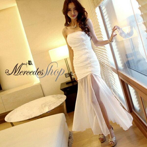 梅西蒂絲 -韓國連線露肩性感包臀洋裝禮服