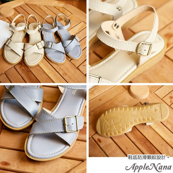 AppleNana。不出錯夏日保證款交插真皮厚底涼鞋【QG1362990】蘋果奈奈 1
