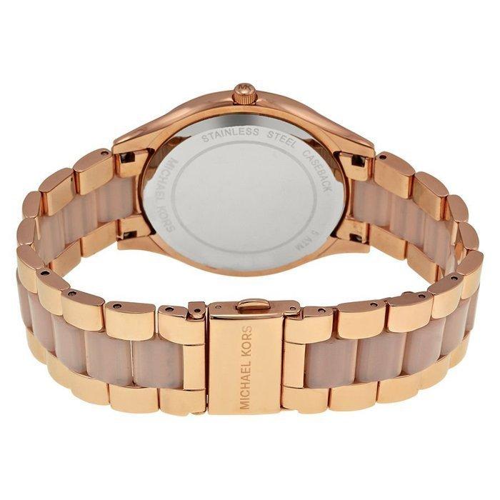 【MICHAEL KORS】正品 玫瑰金珍珠貝薄型時尚腕錶 MK4294 1