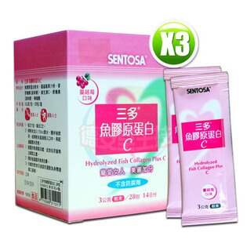 三多膠原蛋白C(蔓越莓口味)(3gx28包/盒)x1