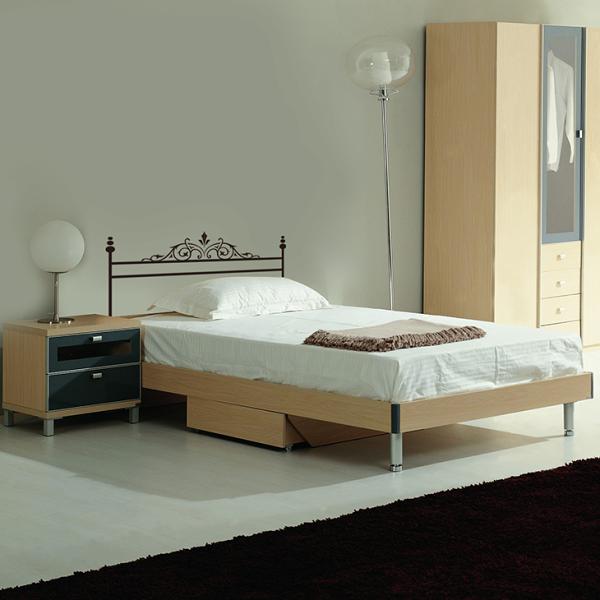 Attlee設計師-創意無痕壁貼.單人床頭板/床架 壁貼HDWS-09